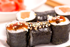 Petits pains de sushi du Japon Photo stock