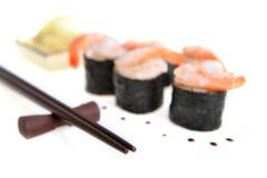 Petits pains de sushi frais Photo libre de droits