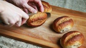 Petits pains entiers de grain clips vidéos