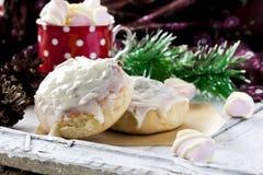 Petits pains et chocolat de cannelle photos libres de droits