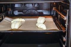Petits pains et croissants de pain Photographie stock