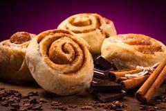 Petits pains de cannelle doux Photos libres de droits