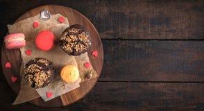 Petits pains et macarons Image stock