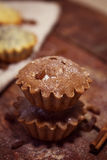 Petits pains faits maison de chocolat Images stock