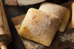 Petits pains faits maison frais de ciabatta Image stock