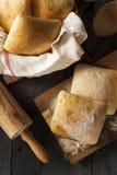 Petits pains faits maison frais de ciabatta Image libre de droits