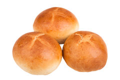 Petits pains français d'isolement sur le fond blanc Image stock