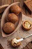 petits pains sans gluten de Bas-CARB photographie stock