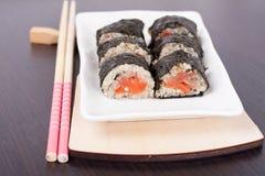 Petits pains saumonés Photos stock