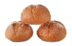 Petits pains savoureux frais d'isolement photo stock