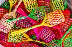Petits paniers colorés Image stock