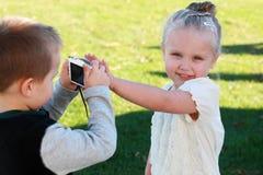 Petits paparazzi Photos libres de droits