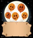 Petits parchemin et ballons 1 de Halloween Photos stock