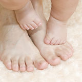 Petits pieds Images stock