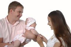 Petits plaisirs de famille heureux Photographie stock libre de droits