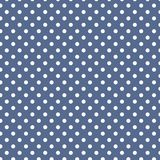 Petits points de polka blancs sur bleu-foncé en pastel illustration libre de droits