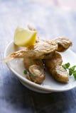 Petits poissons frits Photo libre de droits