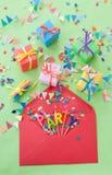 Petits présents colorés Image libre de droits