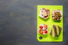 Petits sandwichs Images libres de droits