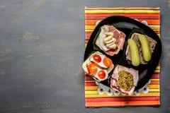Petits sandwichs Photos stock