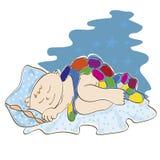 Petits sommeils d'enfant Images stock
