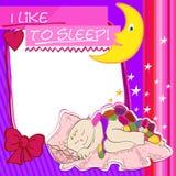 Petits sommeils d'enfant de carte postale Photographie stock libre de droits