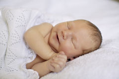 Petits sommeils nouveau-nés de bébé Sommeil nouveau-né de chéri Chéri nouveau-née Images libres de droits