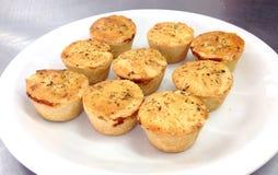 Petits tartes salés Images stock