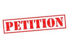 petizione fotografia stock