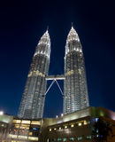 Petonas Towers at night Royalty Free Stock Photo