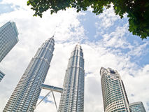 Petonas Twin Towers and other skyscrapers in KL Royalty Free Stock Photos