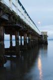 Petone码头在黎明 库存照片