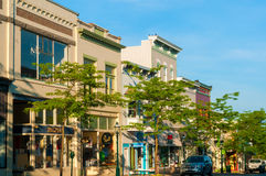Petoskey morning. PETOSKEY, MI - JUNE 27, 2014: Petoskey's quaint and charming 'Gaslight' business district makes it a popular draw for vacationers heading to