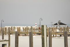 Petoskey Pierhead latarnia morska i Marina, Petoskey, Michigan w w Obrazy Stock