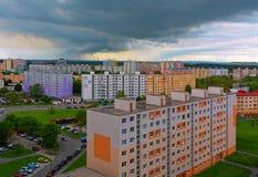 Petržalka - Concrete jungle. Block of flats in Petržalka stock images