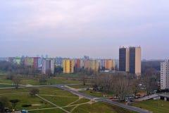 Petržalka - Concrete jungle. Technopol building in settlement Petrzalka royalty free stock image