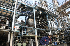 Petróleo, combustible e industria, potencia y energía Fotos de archivo libres de regalías