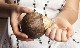 Petróleo de coco Fotografía de archivo libre de regalías