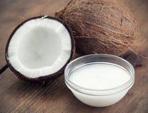 Petróleo de coco Imagen de archivo libre de regalías