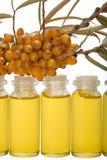 Petróleo de las bayas del mar-espino cerval. Fotografía de archivo libre de regalías
