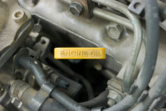 Petróleo de motor Foto de Stock Royalty Free