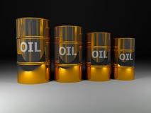 Petróleo de oro Foto de archivo libre de regalías