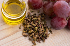 Petróleo de semente da uva Foto de Stock