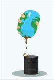 Petróleo de Squeezng de la tierra imagenes de archivo