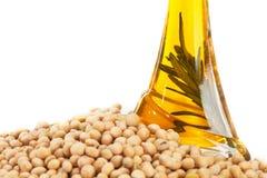 Petróleo do feijão de soja Foto de Stock