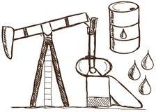 Petróleo - doodles da gasolina ilustração stock