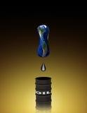 Petróleo drenado Imagem de Stock