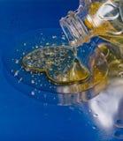 Petróleo e água Fotografia de Stock Royalty Free