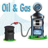 Petróleo e gás Fotografia de Stock Royalty Free