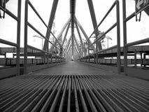 Petróleo e gás a pouca distância do mar da indústria Fotografia de Stock Royalty Free